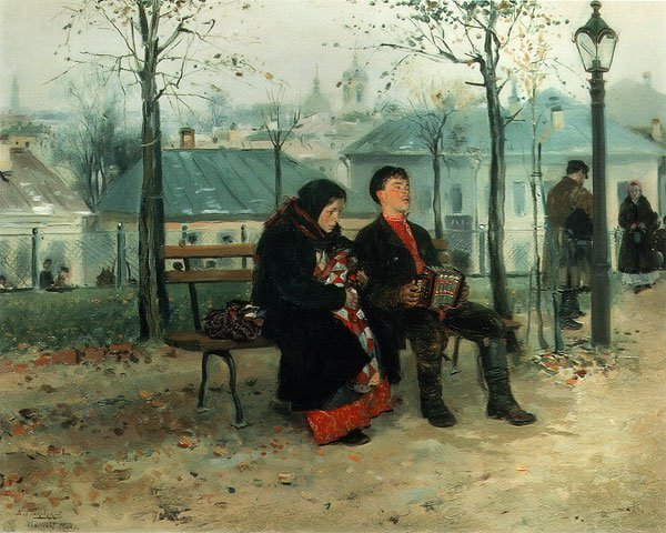 On the Boulevard 1886 1887 | Vladimir Makovsky | oil painting
