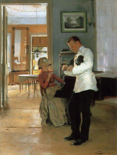 The Explanation 1889 1891 | Vladimir Makovsky | oil painting