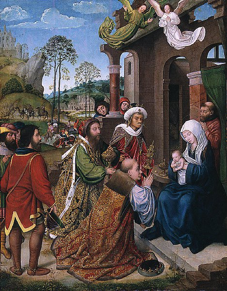 Adoration of the Magi | Follower of Hugo van der Goes | oil painting