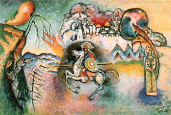 Rider. St. George | Wassily Kandinsky | oil painting