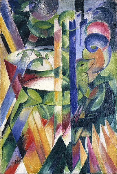 The Little Mountain Goats | Franz Marc | oil painting