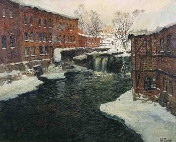 Mill Scene | Frits Thaulow | oil painting