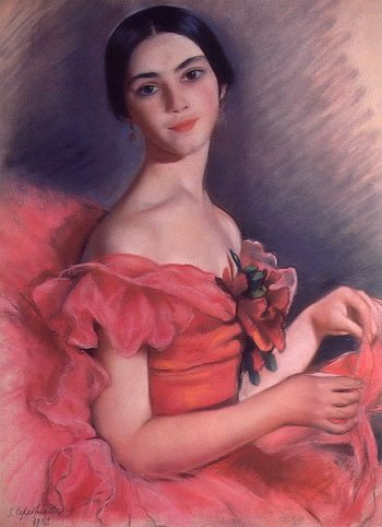 Portrait of Yekaterina Heidenreich in Red 1923 | Zinaida Serebryakova | oil painting