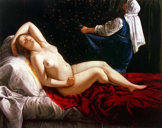 Danae Sait Louis | Gentileschi Artemisa | oil painting