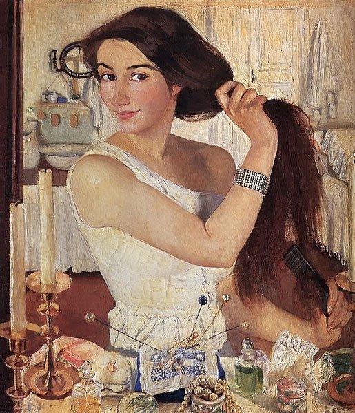 Self Portrait at the Dressing Table 1909 | Zinaida Serebryakova | oil painting