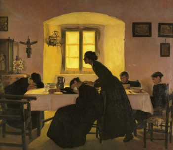 Familia Llorando | Eduardo Chicharro Aguera | oil painting