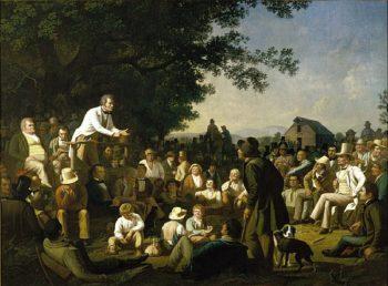 Stump Speaking | George Caleb Bingham | oil painting