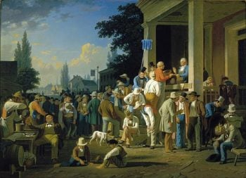 The County Election | George Caleb Bingham | oil painting