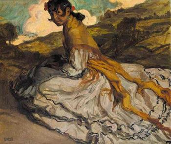 Gitana | Eduardo Chicharro Aguera | oil painting