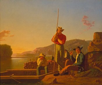 The Wood Boat | George Caleb Bingham | oil painting