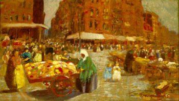 Houston Street | George Luks | oil painting