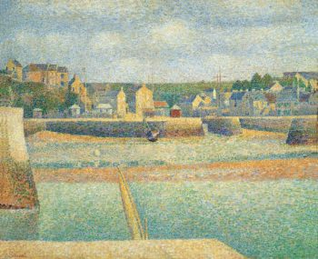 Port en Bessin The Outer Harbor Low Tide | Georges Seurat | oil painting