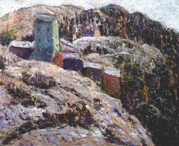 Abandoned Mine Cripple Creek | Ernest Lawson | oil painting