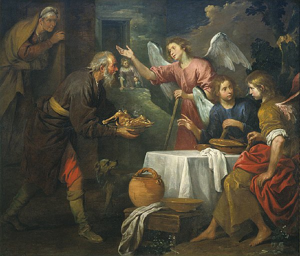 Abraham and the Three Angels | Giovanni Andrea de Ferrari | oil painting