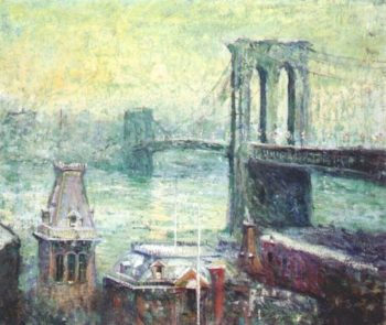 Brooklyn Bridge | Ernest Lawson | oil painting