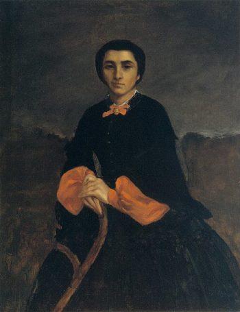 Portrait of a Woman Juliette Courbet | Gustave Courbet | oil painting