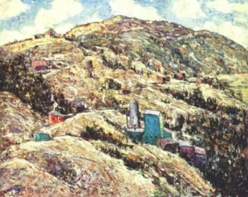 Gold Mining Cripple Creek | Ernest Lawson | oil painting