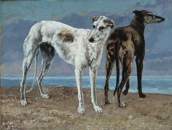 The Greyhounds of the Comte de Choiseul | Gustave Courbet | oil painting