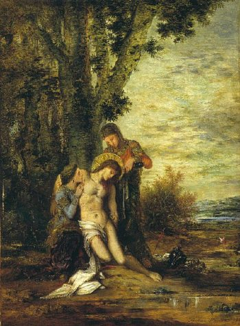 The Martyred St. Sebastian | Gustave Moreau | oil painting