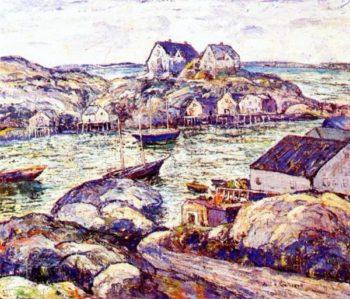 Peggys Cove Nova Scotia | Ernest Lawson | oil painting