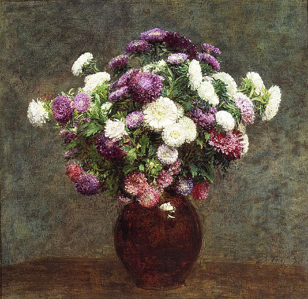 Asters in a Vase | Henri Fantin Latour | oil painting