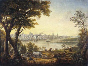Saint Louis in 1846 | Henry Lewis | oil painting