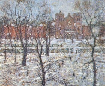 Stuyvesant Square in Winter | Ernest Lawson | oil painting