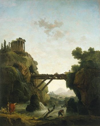 Fantastic View of Tivoli | Hubert Robert | oil painting