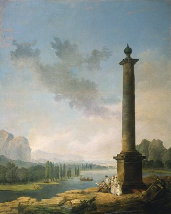 The Column | Hubert Robert | oil painting