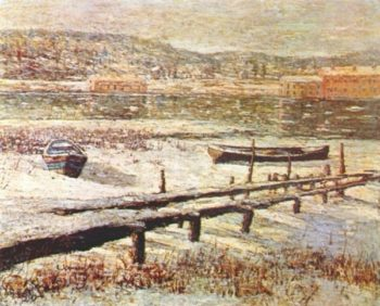 Winter on the River | Ernest Lawson | oil painting