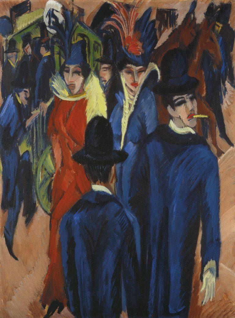 Berlin Street Scene   Ernst Ludwig Kirchner   oil painting