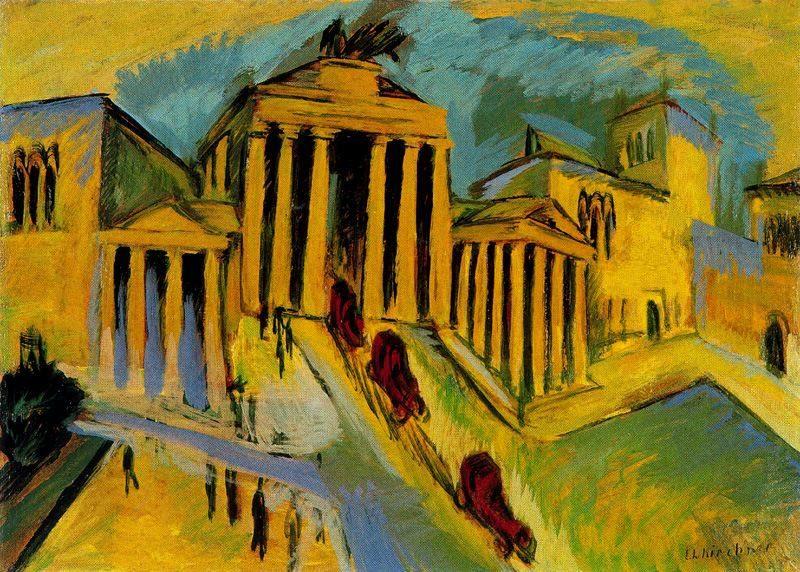 Brandenburger | Ernst Ludwig Kirchner | oil painting