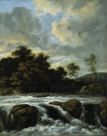 Landscape with Waterfall | Jacob van Ruisdael | oil painting
