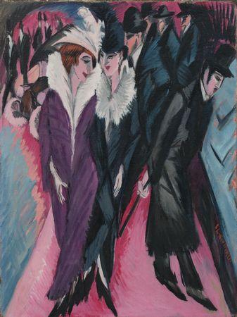 Kirchner 1913 Street Berlin | Ernst Ludwig Kirchner | oil painting