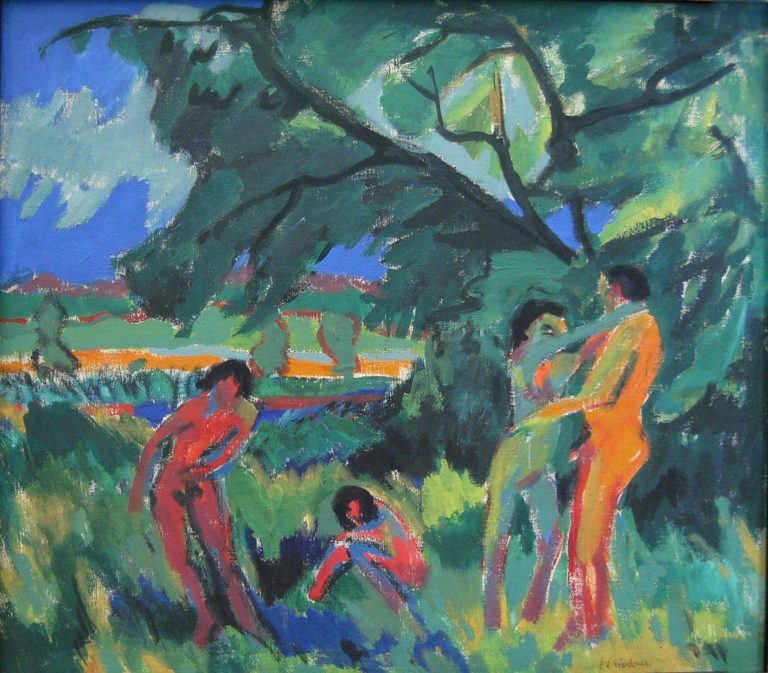 pielende nackte Menschen | Ernst Ludwig Kirchner | oil painting