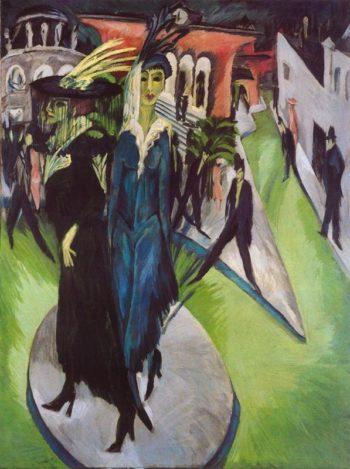Potsdamer Platz | Ernst Ludwig Kirchner | oil painting