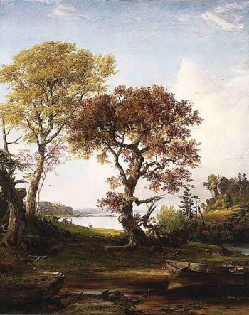 The Hudson at Piermont | Jasper Francis Cropsey | oil painting