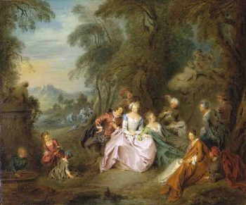 Repose in a Park | Jean Baptiste Pater | oil painting