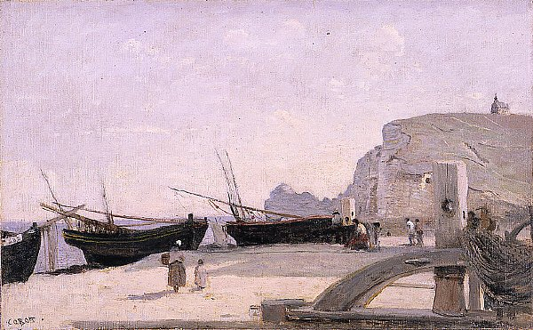 The Beach Retreat   Jean Baptiste Camille Corot   oil painting