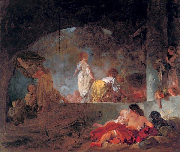 The Laundresses   Jean Honor Fragonard   oil painting