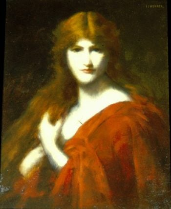 The Redhead | Jean Jacques Henner | oil painting