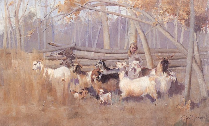 A Bush Idyll | George Lambert | oil painting