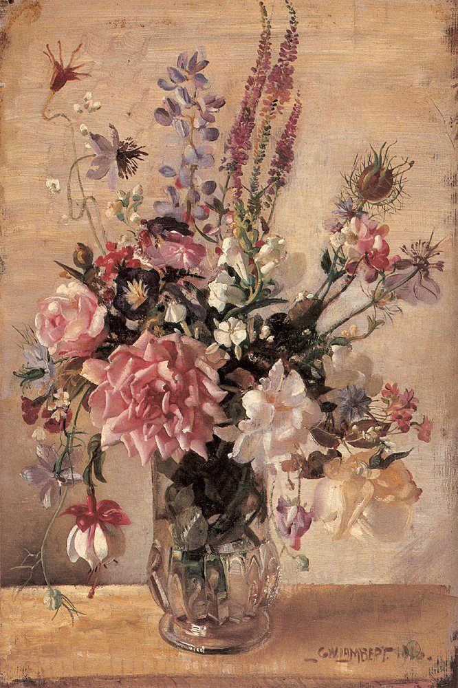 A Garden Bunch | George Lambert | oil painting