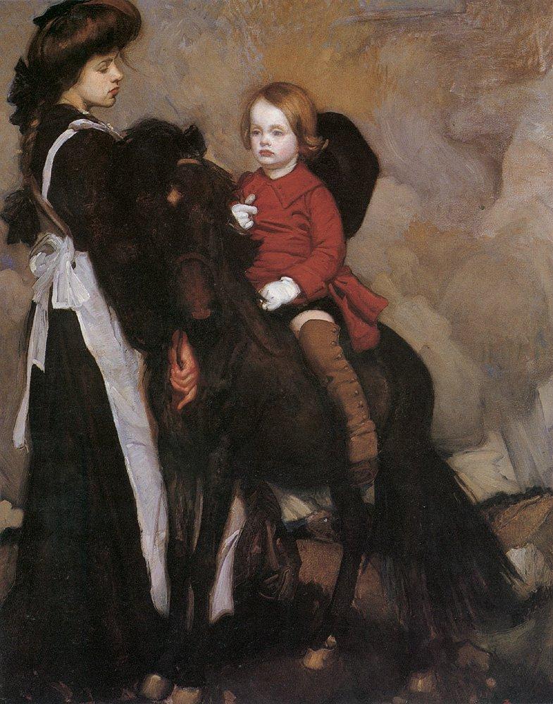 Equestrian Portrait of a Boy | George Lambert | oil painting