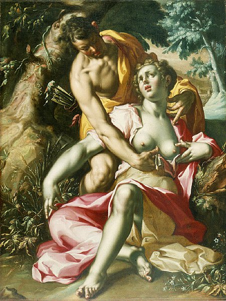 Cephalus and Procris The Death of Procris | Joachem Wtewael | oil painting