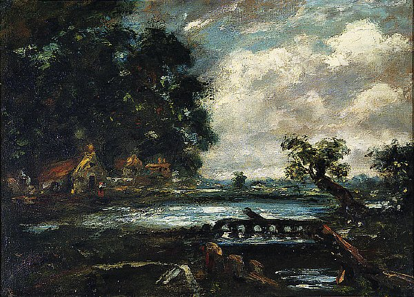 Study for The Leaping Horse View on the Stour | John Constable | oil painting