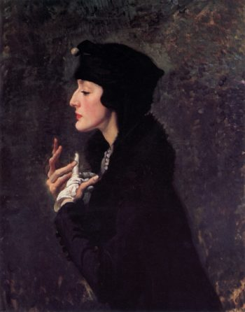 Miss Helene Beauclerk | George Lambert | oil painting