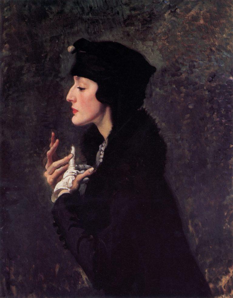 Miss Helene Beauclerk | George Lambert | oil painting