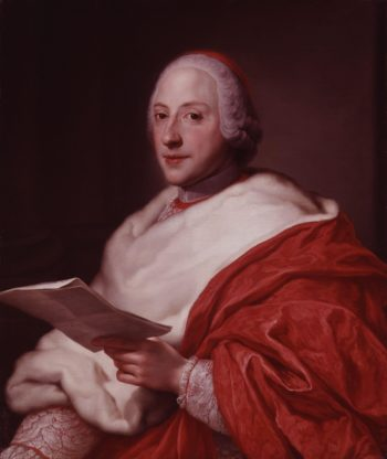 Unknown Cardinal formerly known as Henry Benedict Maria Clement Stuart Cardinal York | Anton Raphael Mengs | oil painting