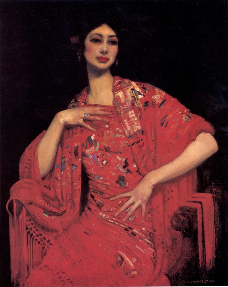 The Red Shawl | George Lambert | oil painting